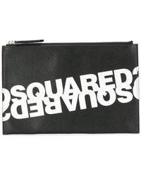 DSquared² Double Logo Clutch - Black