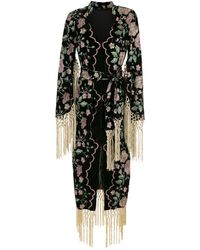 Olympiah Outono Frayed Midi Dress - Black