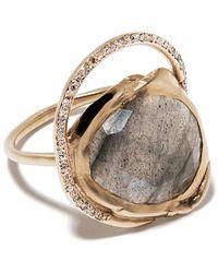 Pascale Monvoisin Gaïa ダイヤモンド リング 9kイエローゴールド - メタリック