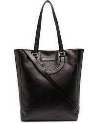 Societe Anonyme Leather Appliqué Detail Tote Bag - Black