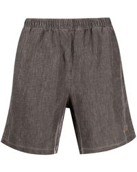Stussy Shorts mit Logo-Stickerei - Braun