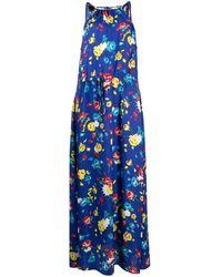 Love Moschino フローラル ドレス - ブルー