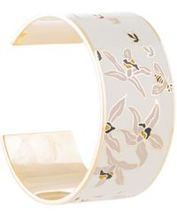 Tory Burch Printed enamel cuff bracelet - Weiß