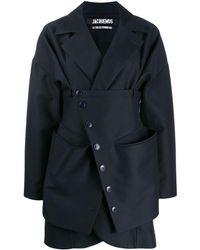 Jacquemus Layered Short Coat - Blue
