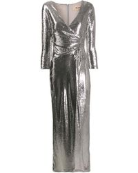 Blanca Vita スパンコール ラップドレス - マルチカラー