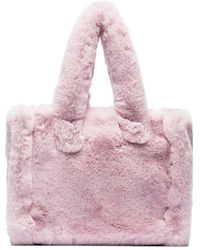 Stand Studio Liz Faux Fur Tote Bag - Pink
