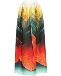 Mary Katrantzou - Egret Printed Full Length Skirt - Lyst