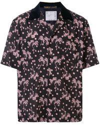Sacai Hemd mit Palmen-Print - Schwarz
