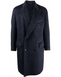 Brioni Double-breasted Wool Coat - Blue