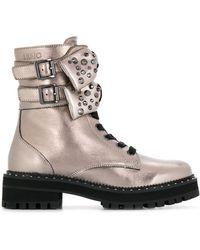 Liu Jo Bow Detail Boots - Metallic