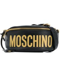 Moschino Поясная Сумка С Металлическим Логотипом - Черный