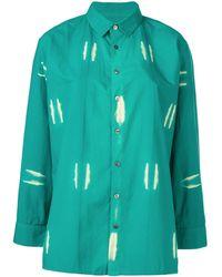 Suzusan Bleached Effect Shirt - Green