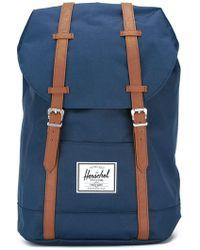 5a7f86f9f0 Fila Contrast Logo Backpack in Black - Lyst