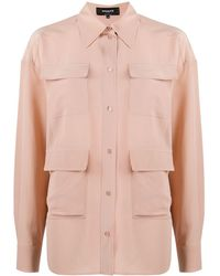 Rochas シルクシャツ - ピンク