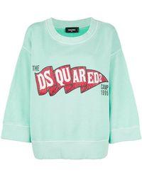 DSquared² - Logo Patch Sweatshirt - Lyst