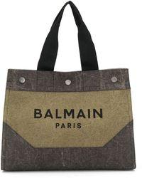 Balmain ロゴ ハンドバッグ - マルチカラー