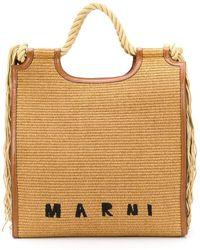 Marni Marcel North-south Tote Bag - Brown