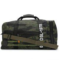 DIESEL Reisetasche mit Camouflage-Print - Schwarz