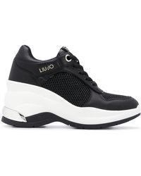 Liu Jo Mesh Panel Chunky Heel Trainers - Black