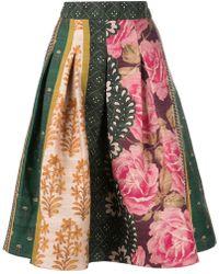 Oscar de la Renta - Floral Print Puffy Skirt - Lyst