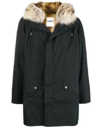 Army by Yves Salomon Fur-trimmed Army Coat - Brown