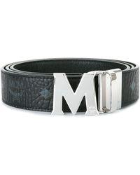 MCM Logo Print Belt - Black