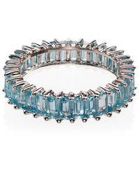 Dana Rebecca 14k White Gold Blue Topaz Ring