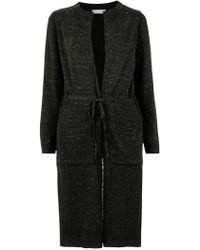 Mara Mac Knit Coat - Black