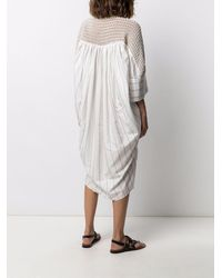 Gentry Portofino Woven-panel Shirt Dress - White
