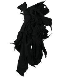 Yohji Yamamoto カットアウト ドレス - ブラック