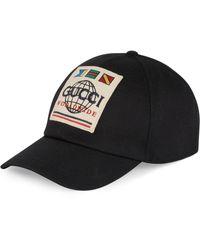 Gucci Honkbalpet Met Patch - Zwart