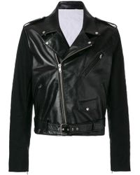 CALVIN KLEIN 205W39NYC ライダースジャケット - ブラック