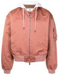 Vivienne Westwood コントラストカラー ボンバージャケット - ピンク