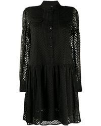 Lala Berlin エンブロイダリー ドレス - ブラック