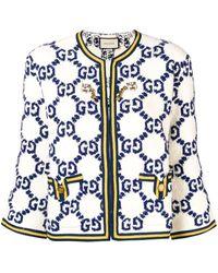 Gucci Logo Print Jacket - ブラック