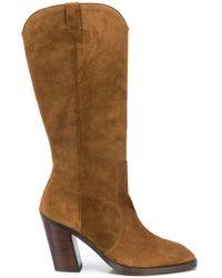 Stuart Weitzman Cheska Mid-calf Boots - Brown