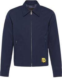 Prada Shirtjack Met Patch - Blauw