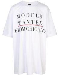 Bernhard Willhelm Modeling Ad Print T-shirt - White
