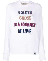 Golden Goose Deluxe Brand スパンコール スウェットシャツ - ホワイト