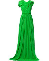 Delpozo ドレープ ドレス - グリーン