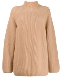 N.Peal Cashmere Relaxed Fit Ribbed Jumper - Multicolour