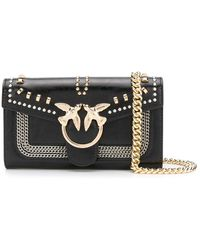 Pinko Love Studded Crossbody Bag - Black