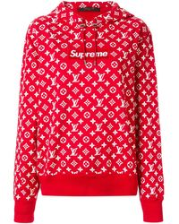 Louis Vuitton X Supreme Pre-owned Logo Hoodie - Red