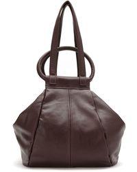 Mara Mac Leather Asymmetrical Bag - Red