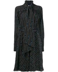 Ferragamo Chain Print Dress - Blue