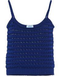 Prada Crochet Vest Top - Blue