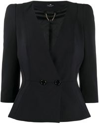 Elisabetta Franchi ボタン ジャケット - ブラック