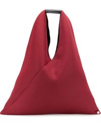 MM6 by Maison Martin Margiela Japanese Hobo Tote - Red