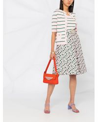 Boutique Moschino フローラル Aラインスカート - ピンク