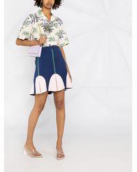 Boutique Moschino ハイウエスト Aラインスカート - ブルー